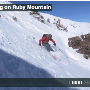 Steep Skiing on Ruby Mountain
