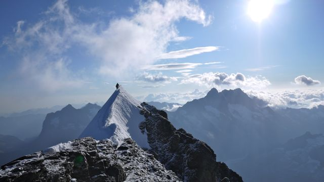 climbers on the eiger