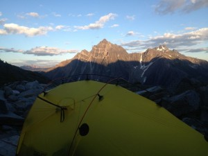Camp High in hermit meadows