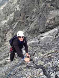Climbing Solid Quartzite on Mt Tupper